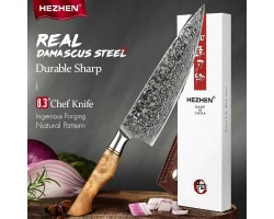 HEZHEN Damascus Gyuto, шеф нож, 210мм